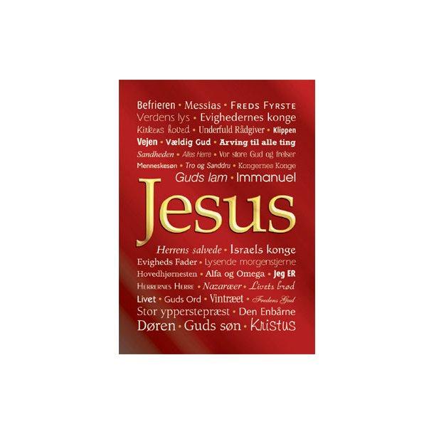 Kort (små plakater) med Jesu navne