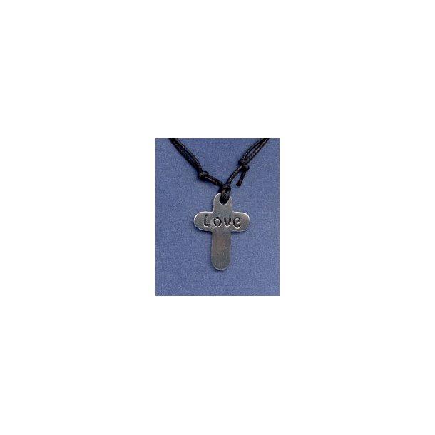 Halskæde med kors i aluminium