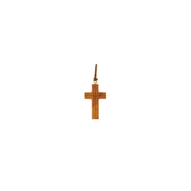Halssmykke, kors i oliventræ