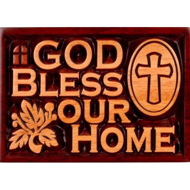 Plakette: God Bless our Home