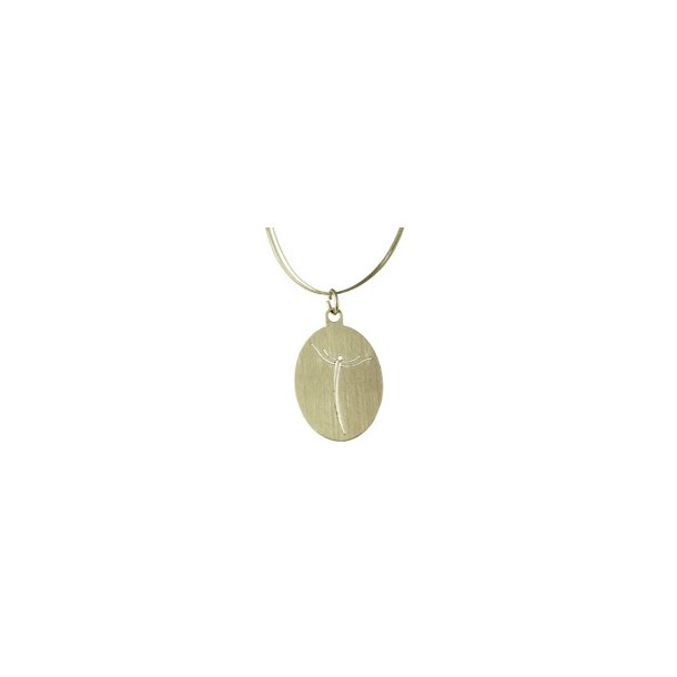 Halssmykke, ovalt smykke med lethedens engel