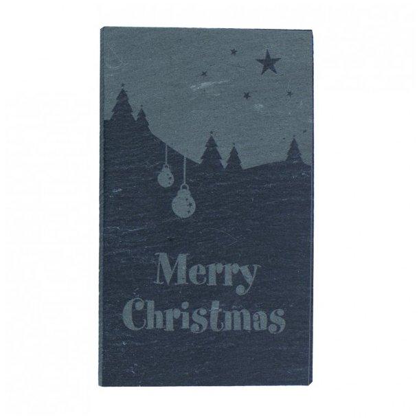 Flot julepynt i skiffer - plaketter