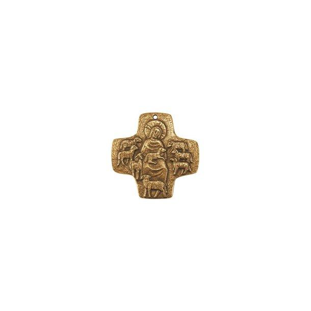Bronze-kors DEN GODE HYRDE 7x7