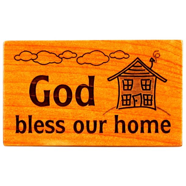 Køleskabsmagnet: GOD Bless our Home
