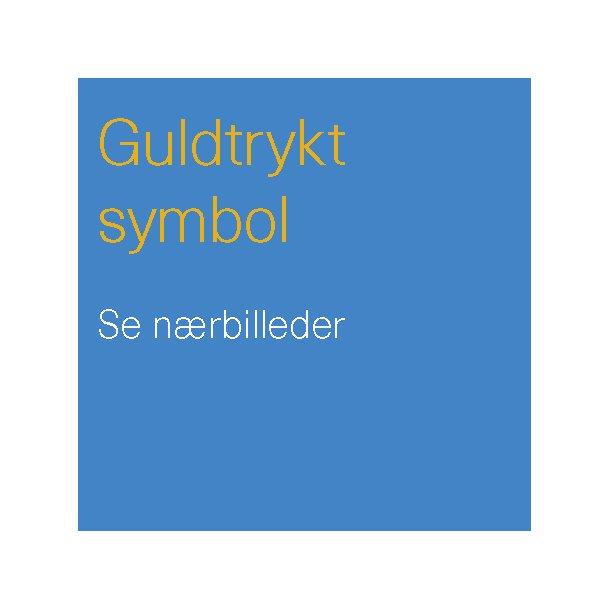Guldtryk af symbol til salmebogens forside.