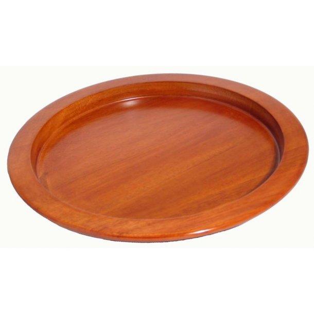Brødbakke i mørk mahogni, 31 cm diameter