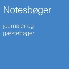Notesbog / journal / gæstebog